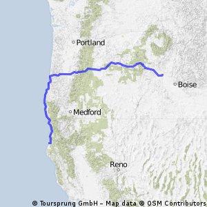 durch Oregon zum Pazifik bis Eureka
