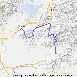 Miyun to Pinggu 110km CLONED FROM ROUTE 1064302