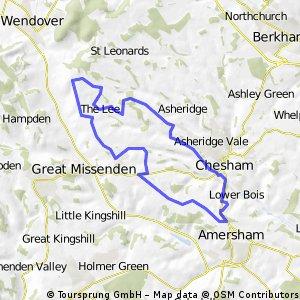 Chesham Loop 2 - 27km