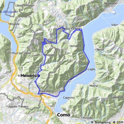 Maslianico - Scudellate - Erbonne - Val d'intelvi - Moltrasio - Cernobbio - Maslianico