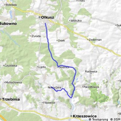 Nowa Góra - Czerna-Witeradów-Olkusz