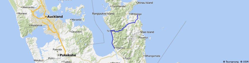 Neuseeland - Etappe 2 - Thames nach Hahei