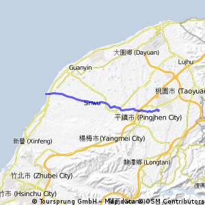 中原大學→永安漁港