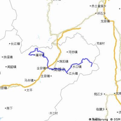 坪田-南雄-帽子峰-澜河