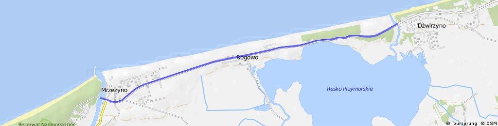 Mrzeżyno - Dźwirzyno trasą R-10