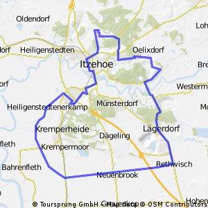 Route Tegelhörn-Heiligenstedtenerkamp-Retwisch -Tegelhörn