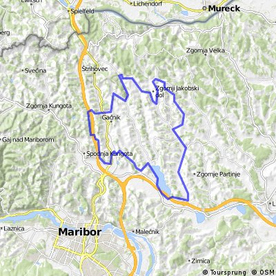 Pesnica Cycling Route
