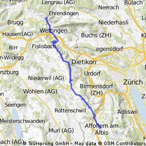 Nussbaumen Affoltern via Heitersberg
