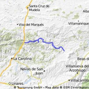 La Sierra del Oro: Collado d elos Jardines, Aldeaquemada, Aldeahermosa