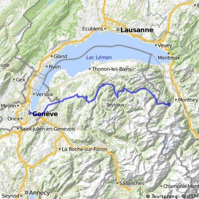 Tour südlich vom Genfersee