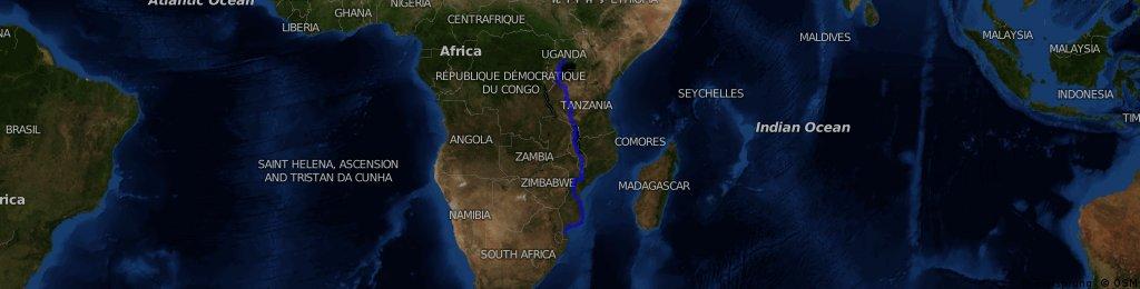 Maputo to kampala