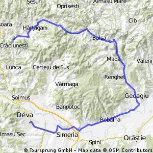 craciunesti - hartagani - geoagiu - deva CLONED FROM ROUTE 1294952