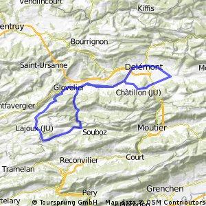 Vicques-Glovelier-Lajoux-Bellelay-Pichou-Vicques