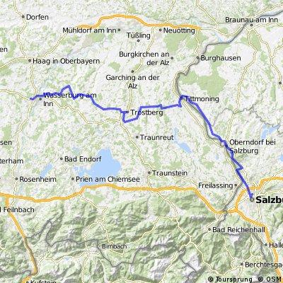 Wasserburg (Bhf)-Schnaitsee-Trostberg-Tittmoning-Oberndorf-Salzburg(Bhf)