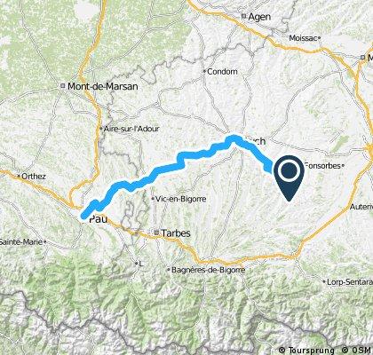 Etappe 15 Tour de France 2012 von Samatan nach Pau