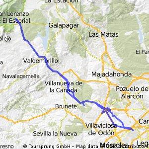 Alcorcon-El escorial 12 octubre 4 etapas