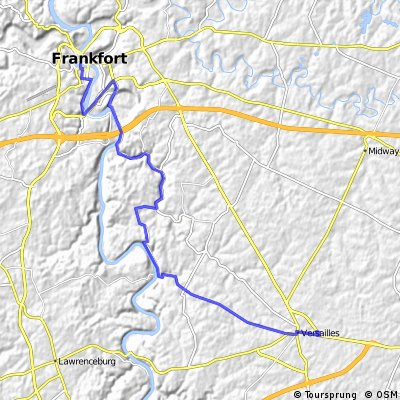 Versailles to Frankfort on Clifton Road