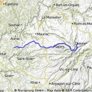 Ride Day 35—16 Oct 2005—15400 Le Claux to 19220 St-Julien-aux-Bois
