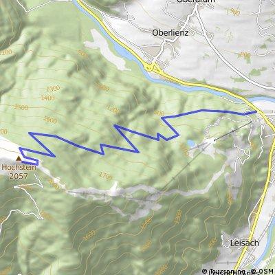 Lienz 676 m - Hochstein 2057 m