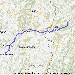 Mainz-Montceau Etappe 5 (retour)