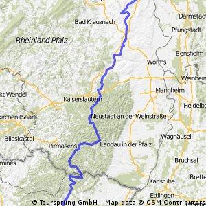 Mainz-Montceau Etappe 8 (retour)