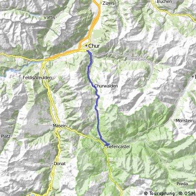 Cycling the Alps Lenzerheide Pass (1549m)