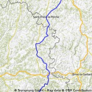 Atlantik : Karlsruhe; 4. Etappe  Tursac  -  Pierre-Buffière