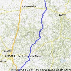 Atlantik : Karlsruhe; 5. Etappe Pierre-Buffière  -  La Celle-Dunoise