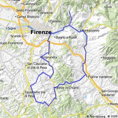 Chiantirunde mit Val di Pesa und Val d Arno