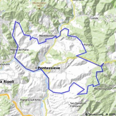 Vallombrosa mit Consuma retour über Borselli und Rufina
