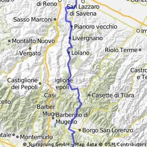 Firenze - Bologna über Firenzuola