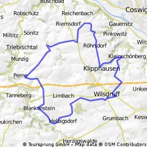 Wilsdruff - Naustadt - Seeligstadt - Blankenstein - Wilsdruff