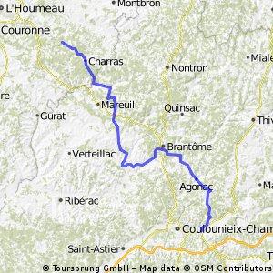 Ride Day 44—28 Oct 2005—24750 Boulazac (Périgueux) to 16410 Maison Neuve (Vouzan)