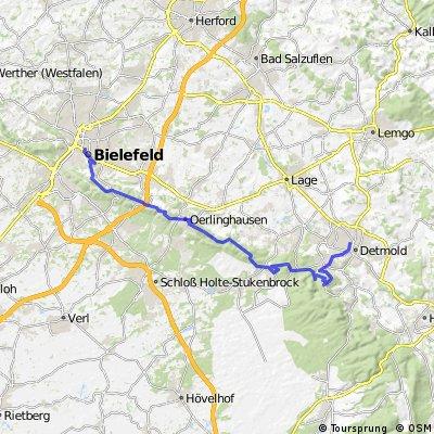 Bielefeld Hermannsdenkmal Detmold HBF Bikemap Deine Radrouten