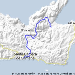 Rincon via Lo Atravesada, Laguna del Valle Samana