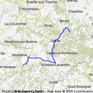 Ride Day 47—31 Oct 2005—16410 Maison Neuve (Vouzan) to 16250 Chadurie