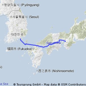 Osaka to Tongyeong by yacht 2011 Oct.