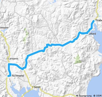 Giro Tasmania Day 2:  Richmond to Triabunna