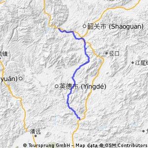 佛冈到乳源瑶族自治县