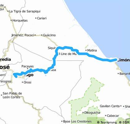 Ruta Etapa de las Americas Etapa 5 Limon Cartago