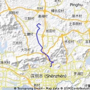 梅林车管所到龙华文化广场