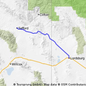 Safford to Lordsburg