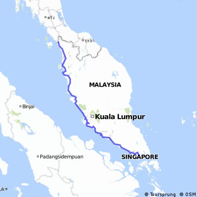 Singapore to Perlis