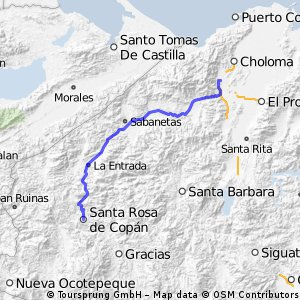 Cycling routes and bike maps in and around San Pedro Sula Bikemap