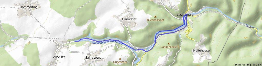 Lutzelbourg Rhein Marne Kanal am alten Kanal zur Höhe