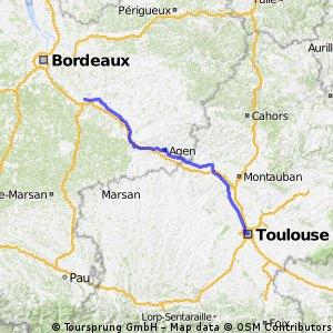 Fr - Canal de la Garonne- Toulouse à Castets en Dorthe