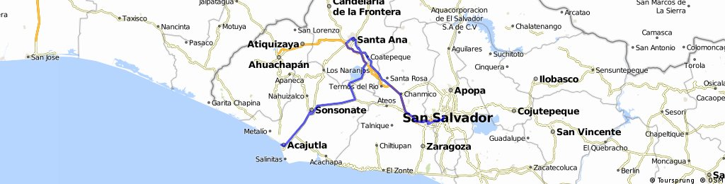 Acajutla-San Salvador