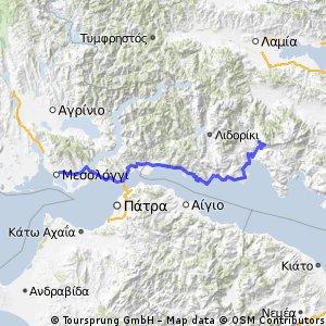 Tour of Hellas: 3rd Stage - Messologgi - Delphi