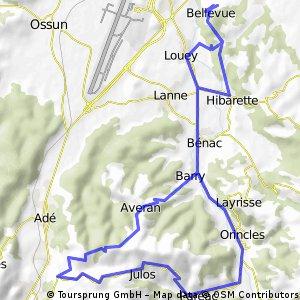Louey - Bénac - Julos - Les Granges - Averan - Louey