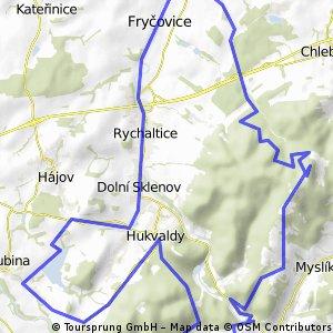 Palkovické hůrky - Huklvaldská obora - přehrada Větřkovice